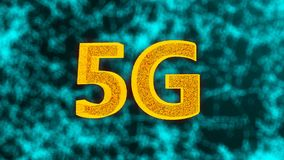 Creative glowing 5G backdrop, this is mobile internet concept, 3d render