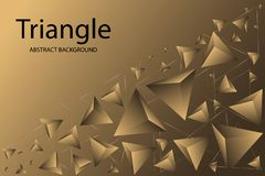 Creative gold abstract background with geometric shapes vector illustration