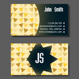 Creative Golden And Blue Business Visiting Card Stock Photography