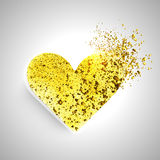 Creative golden heart for Valentine's Day. Stock Photos