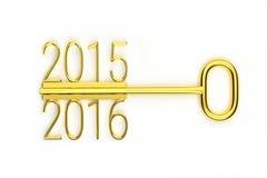 Creative golden key Royalty Free Stock Photo
