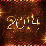 Creative golden new year design. Beautiful creative golden happy new year style background royalty free illustration