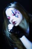 Creative gothic make-up. Creative dark gothic make-up stock photography