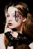 Creative gothic  make-up Royalty Free Stock Photo