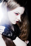 Creative gothic  make-up Royalty Free Stock Image