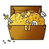A creative gradient cartoon doodle of a treasure chest. An original creative gradient cartoon doodle of a treasure chest royalty free illustration