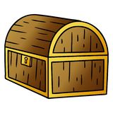 A creative gradient cartoon doodle of a treasure chest. An original creative gradient cartoon doodle of a treasure chest vector illustration