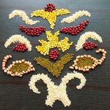 Creative grains decoration royalty free stock photos