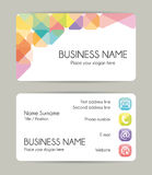 Creative graphic business card design. Front and back. Royalty Free Stock Photo