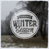 Creative graphic logo message for winter design Royalty Free Stock Photo