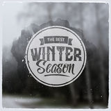 Creative graphic message for winter design Royalty Free Stock Images