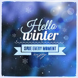 Creative graphic message for winter design Royalty Free Stock Photography