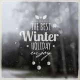 Creative graphic message for winter design Royalty Free Stock Photos