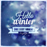 Creative graphic message for winter design Stock Photography