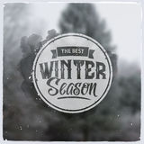 Creative graphic message for winter design Stock Photo