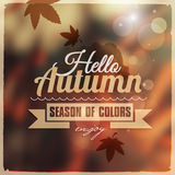 Creative graphic message for your autumn design. Royalty Free Stock Photos