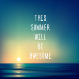 Creative graphic message for your summer design Royalty Free Stock Photography