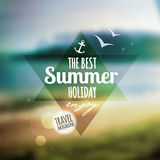 Creative graphic message for your summer design. Royalty Free Stock Image
