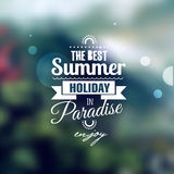 Creative graphic message for your summer design. Royalty Free Stock Photo
