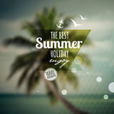 Creative graphic message for your summer design. Stock Image