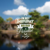 Creative graphic message for your summer design Royalty Free Stock Images