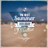 Creative graphic message for your summer design Royalty Free Stock Photo