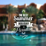 Creative graphic message for your summer design Stock Images