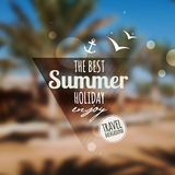 Creative graphic message for your summer design Royalty Free Stock Image