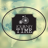 Creative graphic message for your summer design -. Vector blurred background - journey time vector illustration