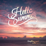Creative graphic message for your summer design Royalty Free Stock Photos