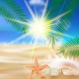 Creative graphic summer design. Stock Photos