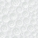 Creative Gray Gears 3d Seamless Pattern Background. Vector for your design Royalty Free Stock Images