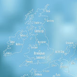 Creative Great Britain map . Creative Great Britain map and Ireland Royalty Free Stock Image