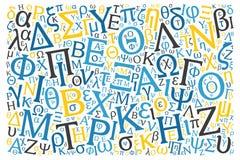 Creative Greek alphabet texture background Royalty Free Stock Image