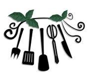 Creative green cook Stock Image