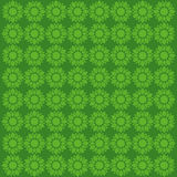 Creative green flower pattern Stock Photography