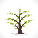 Creative green fuel tree design concept Stock Photo