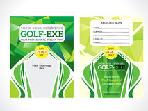 Creative green golf flyer. Vector illustration Royalty Free Stock Photography