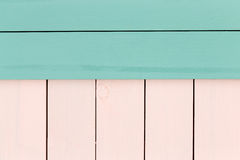 Creative green and rose colored stained wood Royalty Free Stock Image