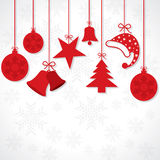 Creative greeting card for christmas Royalty Free Stock Images