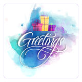 Creative greeting card design for Merry Christmas. Royalty Free Stock Photos