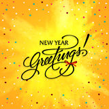 Creative greeting card design for New Year. Elegant creative greeting card design for Happy New Year celebration royalty free illustration