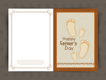 Creative greeting card for Father's Day celebration. Stock Images