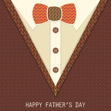 Creative greeting card for Fathers Day. Stock Photo