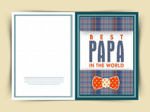 Creative greeting card for Fathers Day. Stock Images