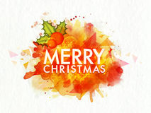 Creative greeting card for Merry Christmas. Stock Photo