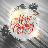Creative greeting card for Merry Christmas. Royalty Free Stock Photo