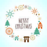 Creative greeting card for Merry Christmas. Royalty Free Stock Image