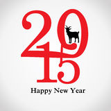 Creative greeting card for new year 2015 Royalty Free Stock Image