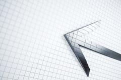 Creative grey arrow on white grid vector illustration
